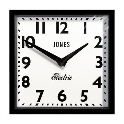 Jones® Clocks The Box II 12-Inch Wall Clock in Silicone Black