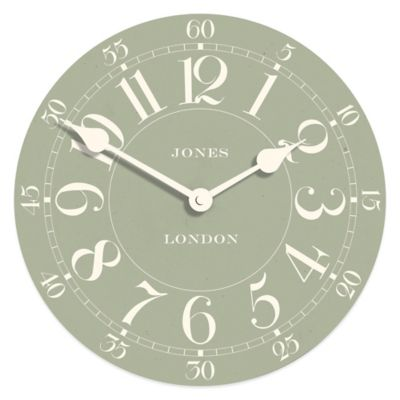 Jones® Clocks Charles 9-Inch Wall Clock in Green