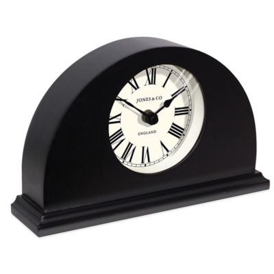 Jones® Clocks Grange Mantel Clock in Black
