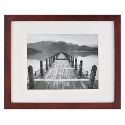 Real Simple® 18-Inch x 22-Inch Espresso Wood Frame with Ivory Mat for 14-Inch x 11-Inch Photo