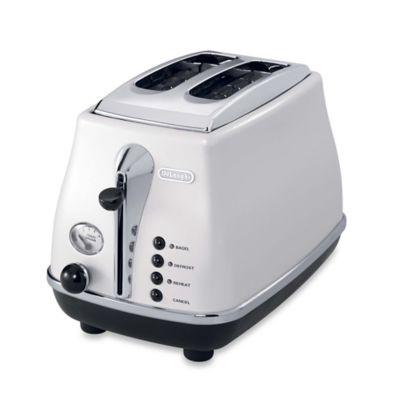 De'Longhi Icona 2-Slice Toaster in White
