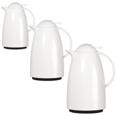 Frieling Auberge Quick-Tip Insulated 68 oz. Thermal Carafe in White