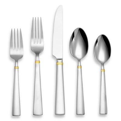 Reed & Barton Perspective Gold 45-Piece Flatware Set