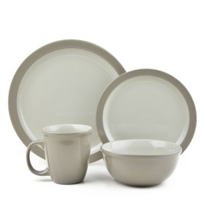 Thomson Pottery 16-Piece Mali Dinnerware Set in Taupe