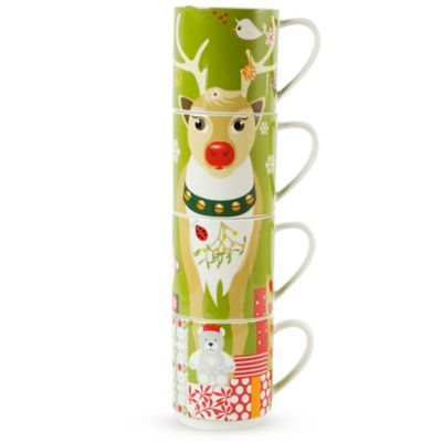 Maxwell & Williams™ Kris Kringle Reindeer 12 oz. Mugs (Set of 4)