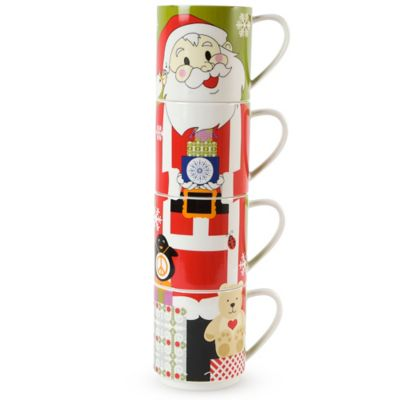 Maxwell & Williams™ Kris Kringle Santa 12 oz. Mugs (Set of 4)