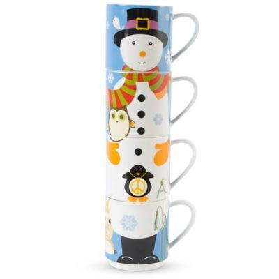 Maxwell & Williams™ Kris Kringle Snowman 12 oz. Mugs (Set of 4)