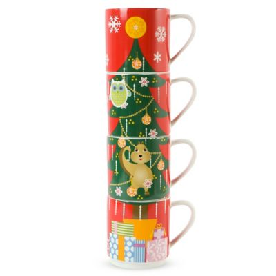 Maxwell & Williams™ Kris Kringle Tree 12 oz. Mugs (Set of 4)