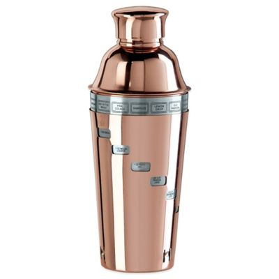Oggi™ Copper Plated Dial-A-Drink Cocktail Shaker