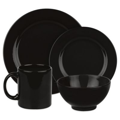 Waechtersbach Fun Factory 16-Piece Dinnerware Set in Black