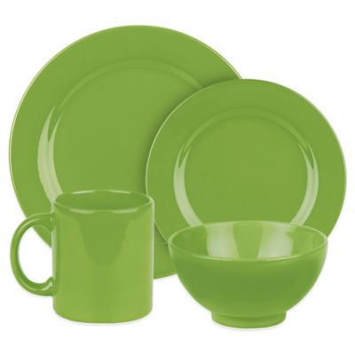 Waechtersbach Fun Factory 16-Piece Dinnerware Set in Green Apple