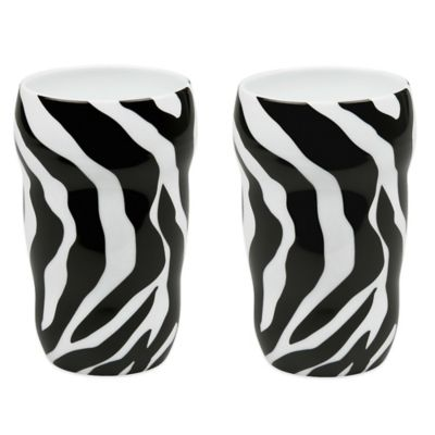 Konitz Double-Walled Zebra Grip Mugs (Set of 2)