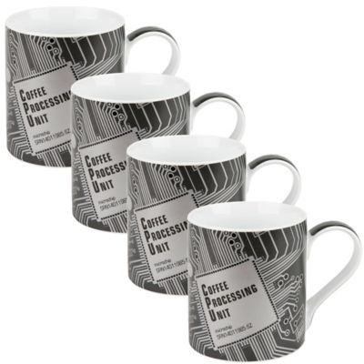 Konitz CPU High Tech Mugs (Set of 4)