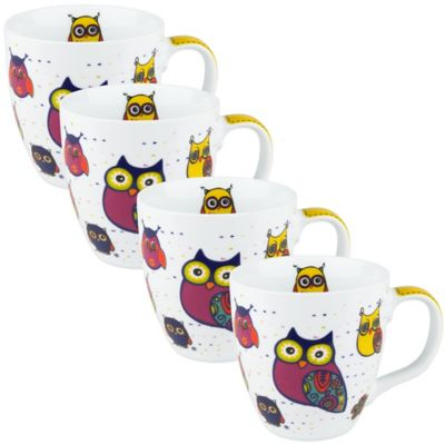 Owl Mugs in White