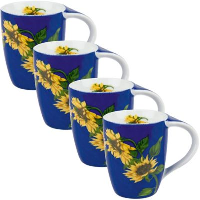 Konitz Sunflower Mugs (Set of 4)