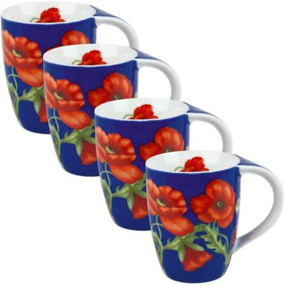 Konitz Poppy Blossom Mugs (Set of 4)