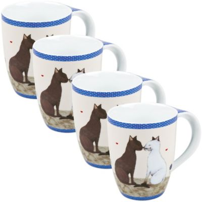 Konitz Cat Couple Mugs (Set of 4)