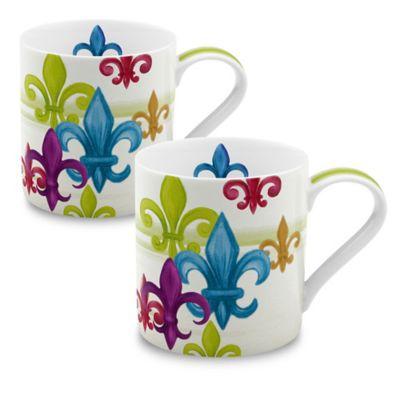 Konitz Fleur de Lis Mugs (Set of 2)