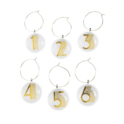 Number Wine Charms (Set of 6)