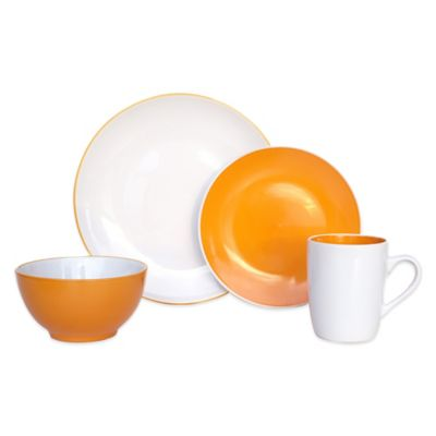 Orange/White Casual Dinnerware