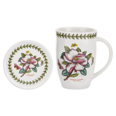 Portmeirion Botanic Garden Magnolia Mug and Coaster Set