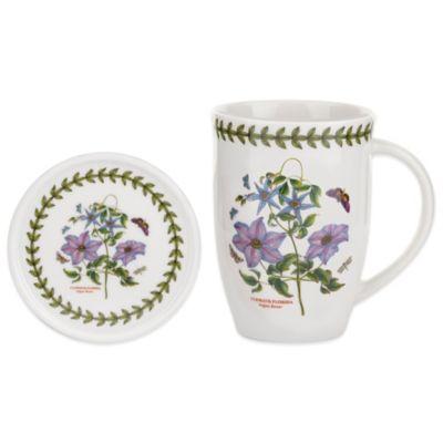 Portmeirion Botanic Garden Clematis Mug and Coaster Set