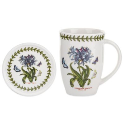 Portmeirion Botanic Garden African Lily Mug and Coaster Set