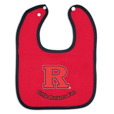 Little Rutgers Fan Baby Bib in Red/Black
