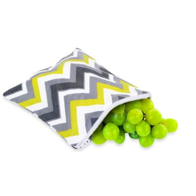 Itzy Ritzy® Snack Happens™ Reusable Snack & Everything Bag in Yellow Chevron