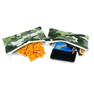 Itzy Ritzy® Mini Snack Happens™ Reusable Snack & Everything Bag in Camouflage (Set of 2)