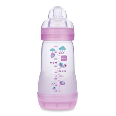 MAM 9 oz. Anti-Colic Bottle in Pink