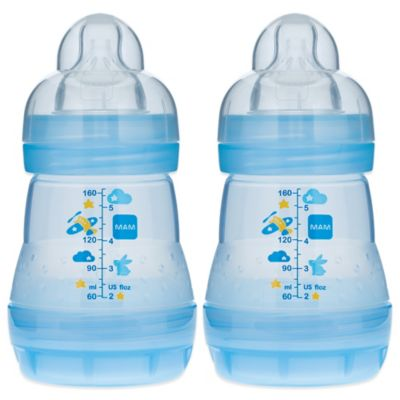 MAM 2-Pack 5 oz. Anti-Colic Bottle in Blue