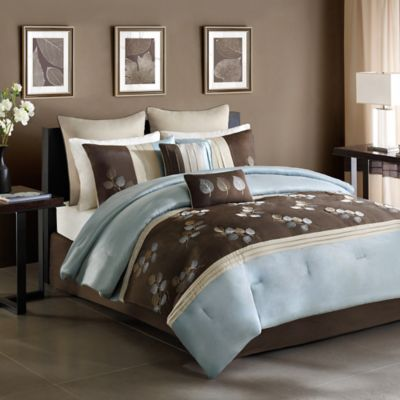 Blue and Beige Comforters
