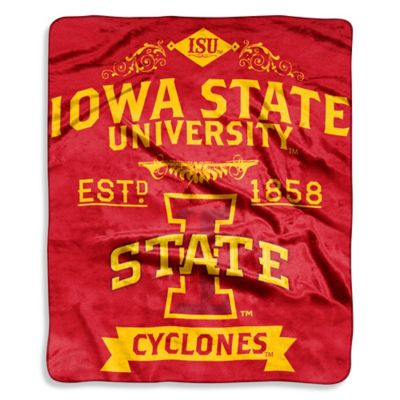Iowa State University Raschel Throw Blanket