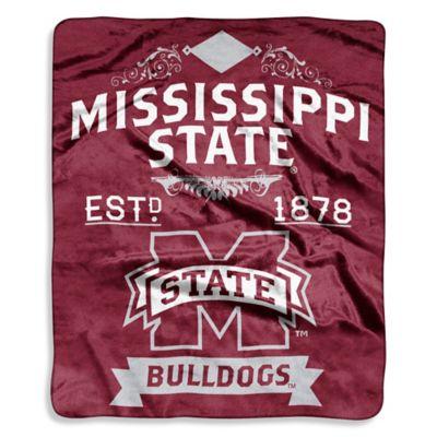 Mississippi State University Raschel Throw Blanket