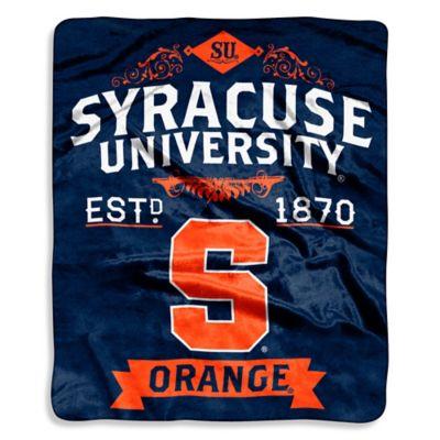 Syracuse University Raschel Throw Blanket