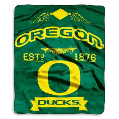 University of Oregon Raschel Throw Blanket