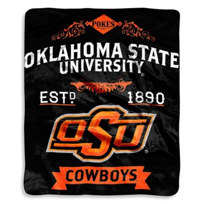 Oklahoma State University Raschel Throw Blanket