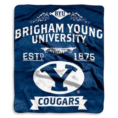 Brigham Young University Raschel Throw Blanket