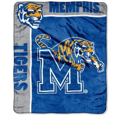 University of Memphis Raschel Throw Blanket