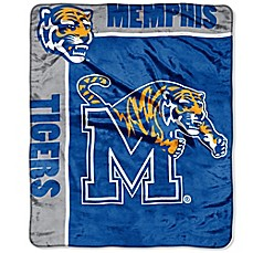 University of Memphis Raschel Throw Blanket