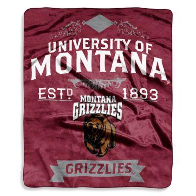 University of Montana Raschel Throw Blanket