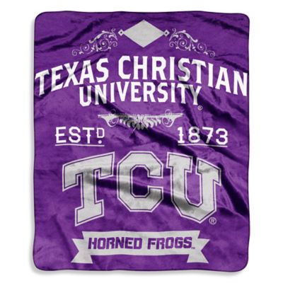 Texas Christian University Raschel Throw Blanket