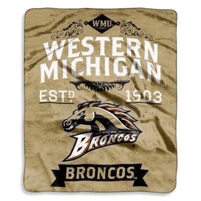 Western Michigan University Raschel Throw Blanket