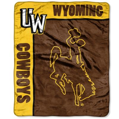 University of Wyoming Raschel Throw Blanket