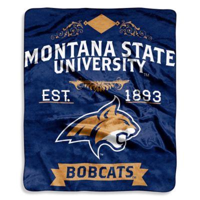 Montana State University Raschel Throw Blanket