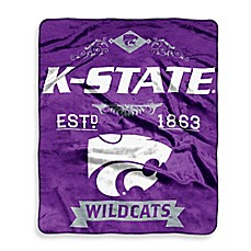 Kansas State University Raschel Throw Blanket