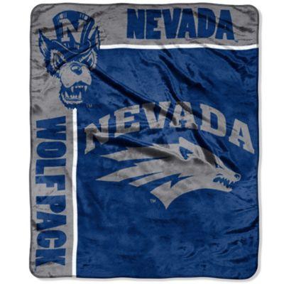 University of Nevada Reno Raschel Throw Blanket