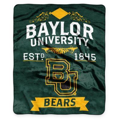 Baylor University Raschel Throw Blanket
