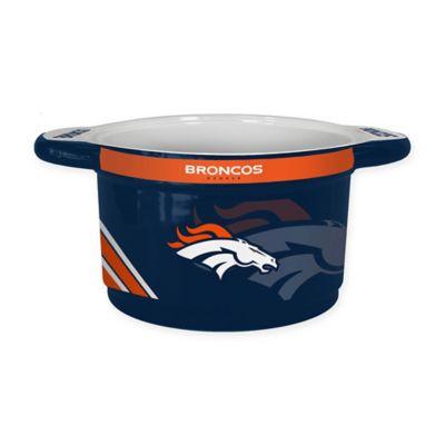 NFL Denver Broncos Sculpted Ceramic Gametime Bowl